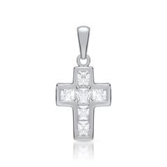 Hochwertiger Kreuz Anhänger aus 925 Silber