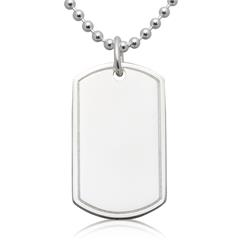 Gravierbares 925 Sterling Silber Dog Tag SP0268