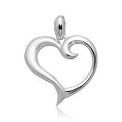 925 Silber Anhänger in Herzform
