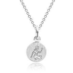 Silberkette mit Sternzeichenanhänger Jungfrau