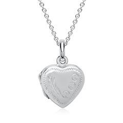 Kette aus 925 Silber mit Medaillon Herzform