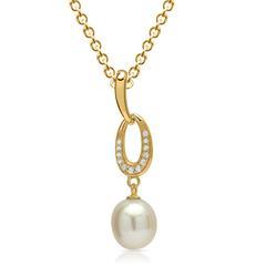 925 Silberkette vergoldeter Silberanhänger