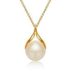 925 Silberkette inkl. Anhänger Perle