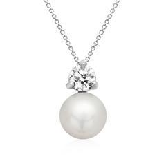 Kette 925er Silber inkl. Anhänger Silber mit Perle