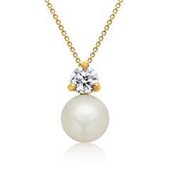 Silberkette inkl. Anhänger Silber Perle