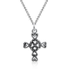 Silberkette inkl. Anhänger Kreuz