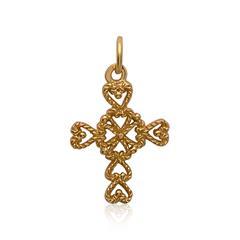 Silberanhänger Kreuz vergoldet