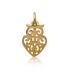 Silberanhänger Eulendesign vergoldet