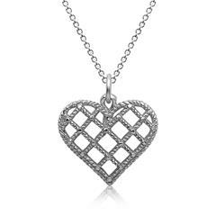 Silberkette inkl. Anhänger Herz