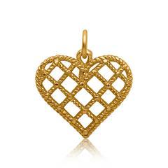 Silberanhänger Herz vergoldet
