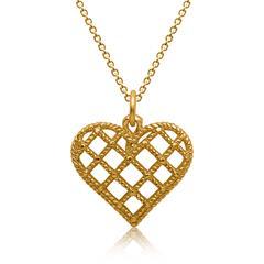 Silberkette vergoldet mit Herzanhänger