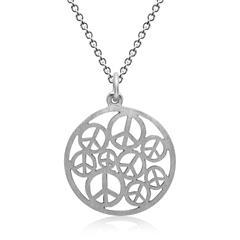 Silberkette inkl. Anhänger Peace