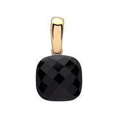 925er Silberanhänger mit schwarzem Zirkonia