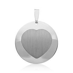 Silberanhänger rhodiniert Herzform