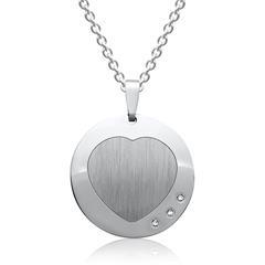 925er Silberkette Herzanhänger Zirkonia