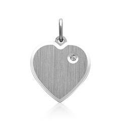 925er Silberanhänger Herzform Zirkonia