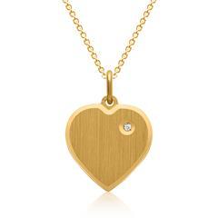 Vergoldete Silberkette inkl. Herzanhänger