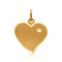 925er Silberanhänger Zirkonia vergoldet