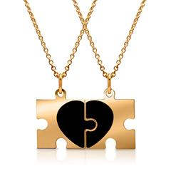 Gelbvergoldete Silberkette Partneranhänger