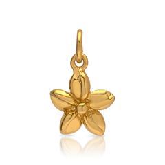 Kettenanhänger 925 Silber vergoldet Blüte