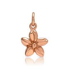Ketten Silberanhänger rosé-vergoldet Blüte
