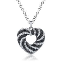 Filigrane Silberkette inklusive Herzanhänger