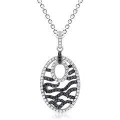 Silberkette inkl. zirkoniabesetztem Anhänger