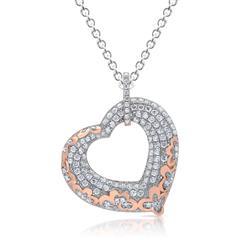 Silberkette inklusive Anhänger in Herzform