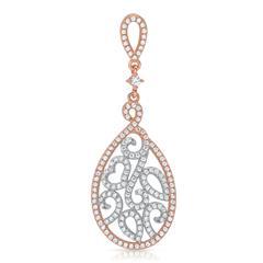 Vergoldeter Silberanhänger mit weißen Steinen
