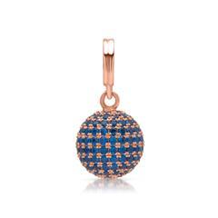 Hochwertiger Silberanhänger mit blauen Steinen