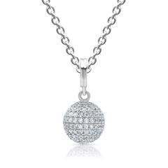 Silberkette inkl. Silberanhänger mit Steinen