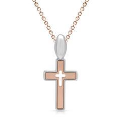 925er Silber Halskette mit Kreuzanhänger