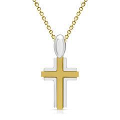 Ankerkette mit Kreuzanhänger aus 925 Silber