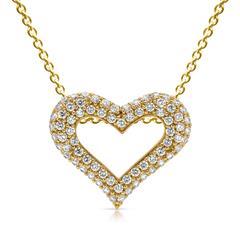 Gelbvergoldete Silberkette mit Herzanhänger