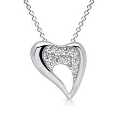 Halskette mit Herzanhänger aus 925er Silber