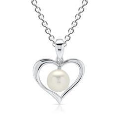 Halskette aus 925 Silber mit Perlenanhänger