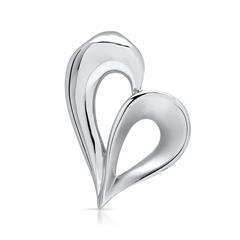 Geschwungener Herzanhänger aus 925er Silber