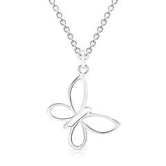 925 Silberkette mit Schmetterlings-Anhänger