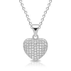 925 Silberkette Herz Zirkonia