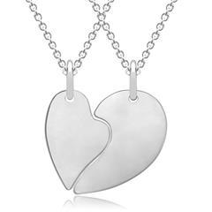Kette mit romantischem Herzanhänger 925er Silber