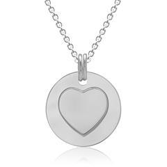 Kette mit beweglichem Herz-Anhänger 925er Silber
