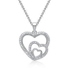 Kette mit Herzanhänger Silber Zirkonia