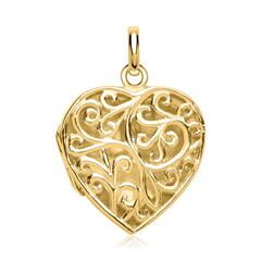 Elegantes Herz viele Verzierungen vergoldet