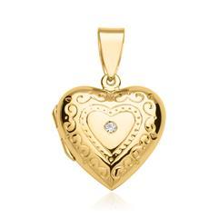 Vergoldetes Herzmedaillon verziert