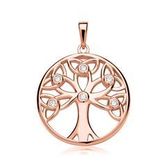 Lebensbaum Anhänger 925er Silber rosévergoldet
