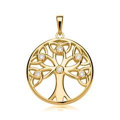 Anhänger Lebensbaum Sterlingsilber vergoldet