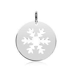 925er Silber Anhänger Schneeflocke