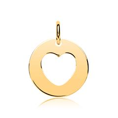 Vergoldeter 925er Silber Anhänger Herz