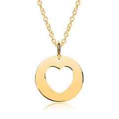 Vergoldete 925er Silber Kette Anhänger Herz