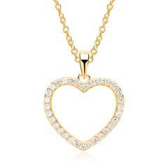 925er Silberkette und Herzanhänger gold